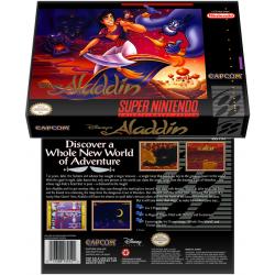 Caixa Box de Cartucho de Super Nintendo Aladdin