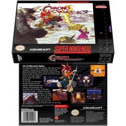 Caixa Box de Cartucho de Super Nintendo Chrono Trigger
