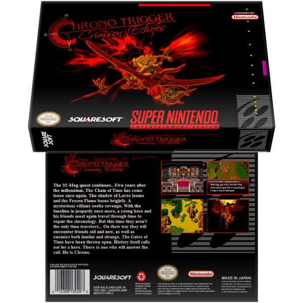 Caixa Box de Cartucho de Super Nintendo Chrono Trigger Crimson Echoes
