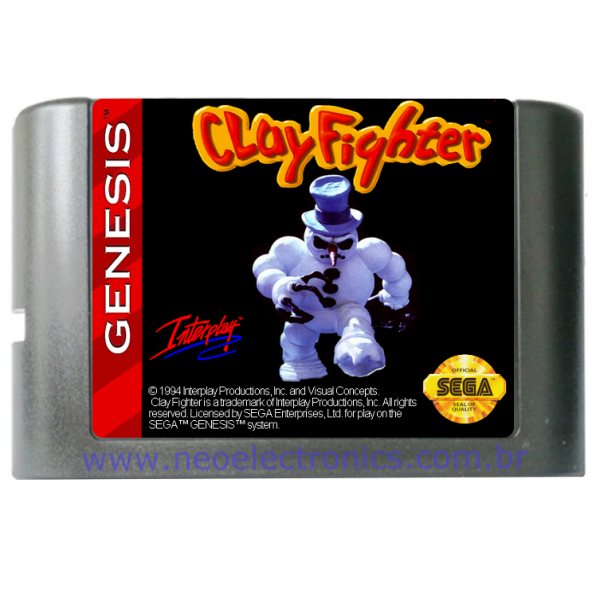 Cartucho de Mega Drive Clayfighter