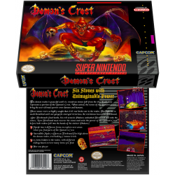 Caixa Box de Cartucho de Super Nintendo Demon's Crest