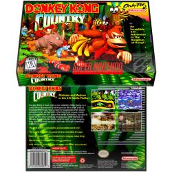 Caixa Box de Cartucho de Super Nintendo Donkey Kong Country