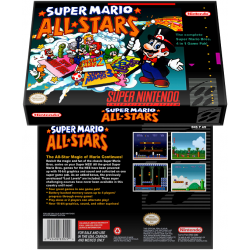 Caixa Box de Cartucho de Super Nintendo Super Mario All-Stars