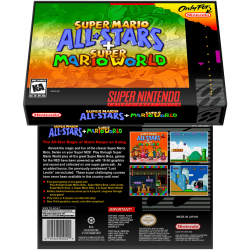 Caixa Box de Cartucho de Super Nintendo Super Mario All-Stars + Super Mario World