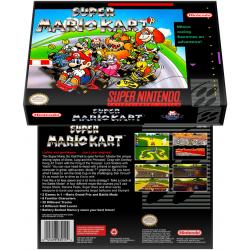 Caixa Box de Cartucho de Super Nintendo Super Mario Kart