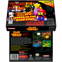 Caixa Box de Cartucho de Super Nintendo Super Mario RPG - Legend of the Seven Stars