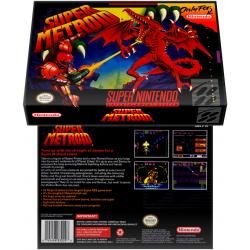 Caixa Box de Cartucho de Super Nintendo Super Metroid