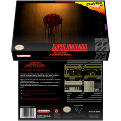 Caixa Box de Cartucho de Super Nintendo Super Metroid Darkholme Hospital