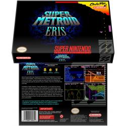 Caixa Box de Cartucho de Super Nintendo Super Metroid Eris