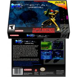Caixa Box de Cartucho de Super Nintendo Super Metroid Ice Metal