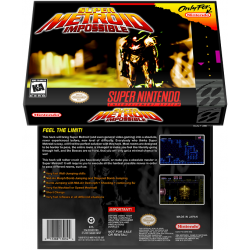 Caixa Box de Cartucho de Super Nintendo Super Metroid  Impossible