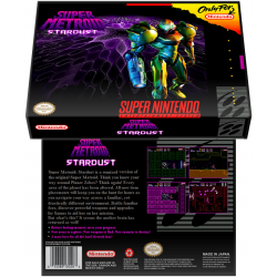 Caixa Box de Cartucho de Super Nintendo Super Metroid  Stardust