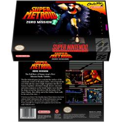 Caixa Box de Cartucho de Super Nintendo Super Metroid Zero Mission